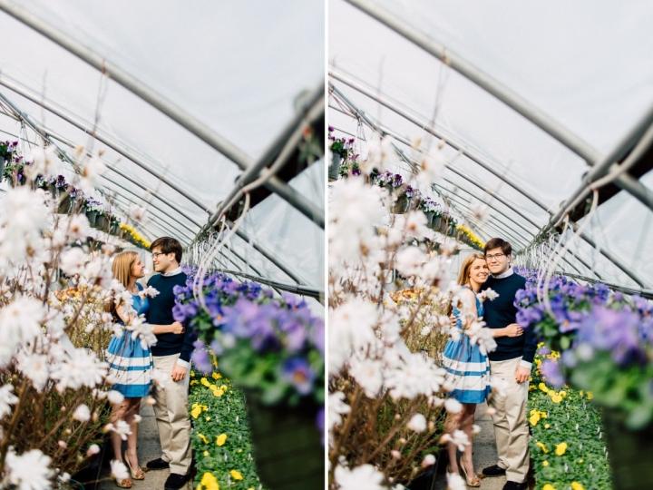 white, maine wedding photographer, fine art photography, engagement photos, green house engagement photos, engaged in Yarmouth & Freeport